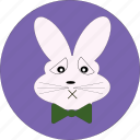 bunny, bunny icon, cute, rabbit, rabbit face, rabbit icon, sad bunny icon icon