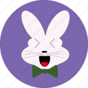 bunny, cute, rabbiit icon, rabbit characters, rabbit face, rabbit symbolism, text symbols icon