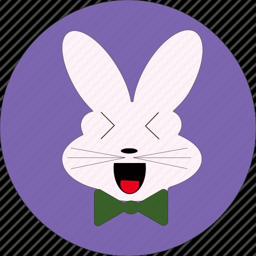 bunny, cute, rabbiit icon, rabbit characters, rabbit face, rabbit symbolism, text symbols icon