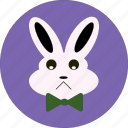 bunny, cute, easter, emotion, face, rabbit, sad icon