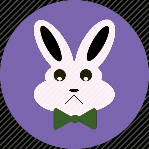 bunny, cute, easter, emotion, face, rabbit, sad icon