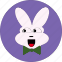 +animal, +rabbit, bunny, cute, easter, happy face, happy rabbit icon