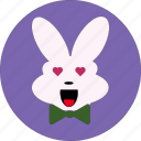bunny, cute, rabbit face, rabbit icon, rabbit symbol icon