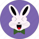 bunny, cute, rabbit face, rabbit symbol icon