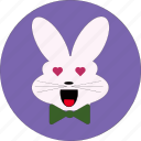 bunny, cue bunny, cute, rabbit, rabbit face, rabit icon icon