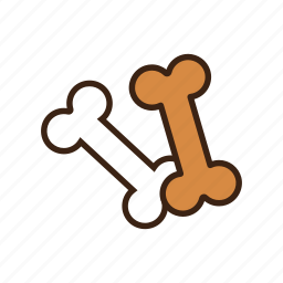 animal, bone, dog, eat, food, pet, snack icon