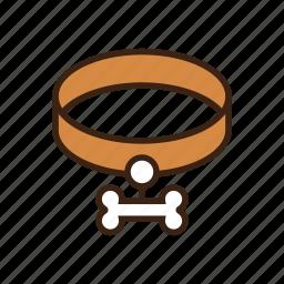 accessories, animal, belt, bone, dog, necklace, pet icon