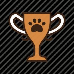 animal, award, claw, contest, dog, pet, thropy icon