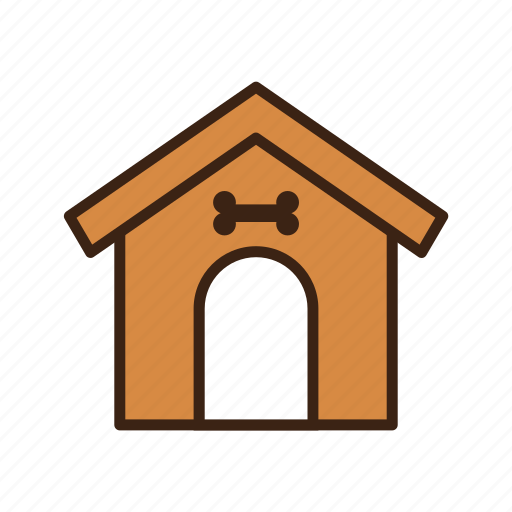animal, bone, dog, dog house, home, house, pet icon