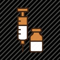 animal, dog, injection, medical, medicine, serum, srynge icon