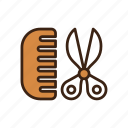animal, comb, dog, haircut, pet, scissor, stylish icon