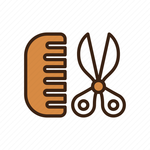 animal, comb, dog, haircut, pet, scissor, stylish icon