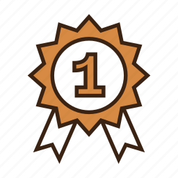 animal, award, badge, contest, dog, first place, pet icon