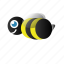 bee, bumble bee, du icon