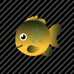 fish, sunfish icon