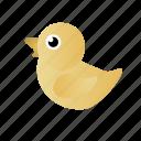 baby duck, duck, yellow, yellow duck icon