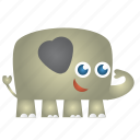 cute elephant, elephant icon