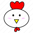 animal, chinese, cock, fat, head, horoscope, zodiac icon