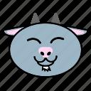 animal, chinse, fat, goat, head, horoscope, zodiac