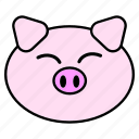 animal, chinese, fat, head, horoscope, pig, zodiac icon