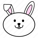 animal, chinese, fat, head, horoscope, rabbit, zodiac icon