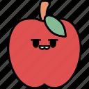 apple, fruit, healthy, vegetarian, food