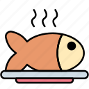 fish, food, meal, cooking