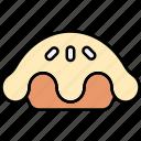 pie, apple pie, baked, dish, food icon