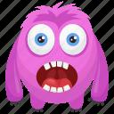 comedy, horror face, monster character, monster costume, oddball monster icon