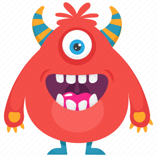Furry fuzzy monster, halloween cartoon, monster, monster character, one eyed monster icon - Download on Iconfinder