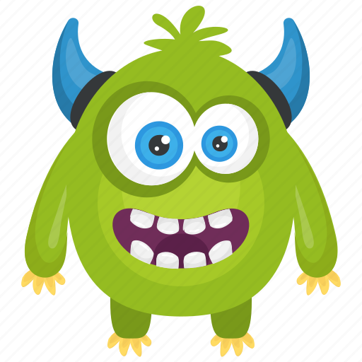 Angry devil monster, angry monster, devil monster, green monster, monster cartoon icon - Download on Iconfinder