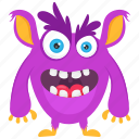 batear monster, demon, halloween monster, monster, monster cartoon icon
