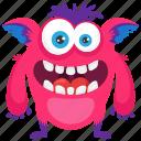 aggressive monster, alien monster, angry monster, monster cartoon, zombie monster icon