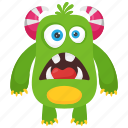 alien monster, bacteria monster, dirty creature, germ monster, monster cartoon