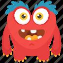 demon character, furry monster, gossamer cartoon character, gossamer monster, hairy monster icon