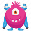 haunted monster, pink monster, zazzle cartoon monster, zazzle costume, zazzle monster icon