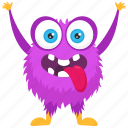 boogie monster, demon monster, excited monster, halloween character, monster character icon