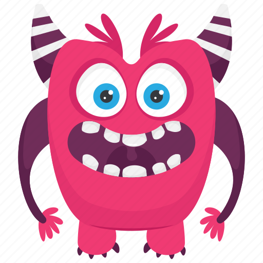 Aggressive monster, angry monster, devil monster, monster cartoon icon - Download on Iconfinder