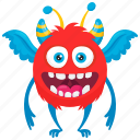 butterfly monster, chao monster, demon monster, halloween character, monster costume icon