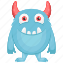 blue monster, oni blue cartoon, oni blue character, oni costume, oni monster icon