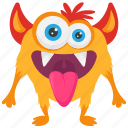 animal monster, monster cartoon, monster character, snail mail monster, zombie icon