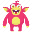 beast, demon monster, gorilla monster, monkey monster, monster cartoon