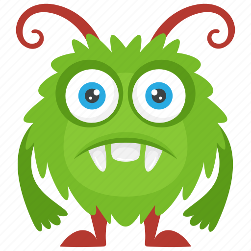 Alien monster, beast, horrifying creature, round monster, zombie monster icon - Download on Iconfinder