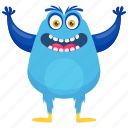 abominable snow monster, halloween character, monster cartoon, monster movie character, snow monster character icon