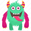 alien, devil monster, furry character monster, furry demon monster, halloween character costume icon