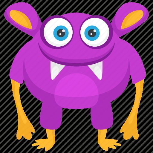 creepy monster, fat monster, heavy face monster, monster costume, zombie icon