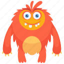 beast, moshi monster, zombie, zombie monster, monster cartoon icon