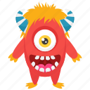 dojo cartoon, dojo cartoon character, dojo monster, monster costume, one eyed monster icon