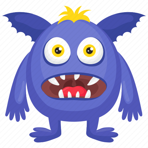 Blue Monster Cartoon Character Halloween Costume Horrible Monster Monster Costume Icon Download On Iconfinder
