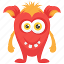 demon creature, halloween character, monster cartoon, monster costume, ugly creepy monster